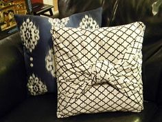 We have a couple of sets of old pillows that need recovering and I'm a sewing machine klutz. This is perfect!
