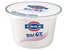 FAGE 0% Yogurt griego sin grasas y bajo en azúcares.