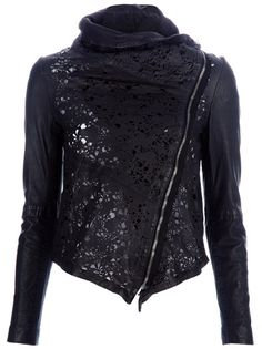 muubaa - cut out leather jacket