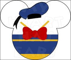 Mickey Mouse dressed as Donald Duck INSTANT DOWNLOAD digital clip art DIY iron on transfer My Heart Has Ears