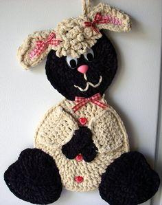Crochet lamb- sheep - wall deco, by Jerre Lollman
