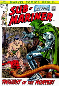 Gil Kane's Sub-Mariner covers often paired him with that character's ...