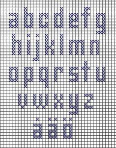 Alfabet i korsstygn