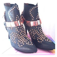 Jeffrey Campbell Studded Boots Used. Good condition Jeffrey Campbell Shoes Ankle Boots & Booties