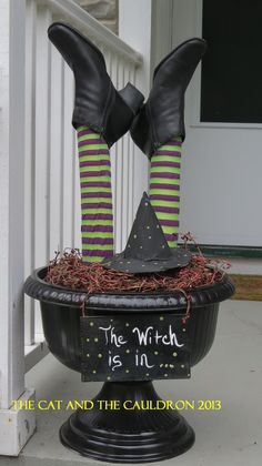 Pool Noodle Witch Legs and Cauldron   When I saw this on pinterest I went nuts and knew I had to try to make one for myself.   See the origi...