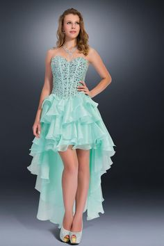 Prom Dresses 2014 High Low Dress Sweetheart Crystal Beaded Bodice Pick Up Tiered Organza Skirt , You will find many long prom dresses and gowns from the top formal dress designers and all the dresses are custom made with high quality Cheap Party Dresses, Cute Prom Dresses, Sweet 16 Dresses, Grad Dresses, Homecoming Dresses, Pretty Dresses, Beautiful Dresses, Short Dresses, Bridesmaid Dresses