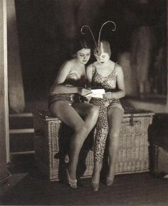 French and English girls at the Moulin Rouge [1926]