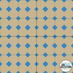 Encaustic Cement Tile - Geo 8
