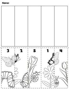 Spring Number Order Cut & Paste Scene by preKautism Numbers Preschool, Free Preschool, Preschool Worksheets, Preschool Crafts, Cutting Activities, Autism Activities, Dots Game, Valentines Games, Ordering Numbers