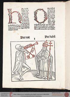 Heidelberger Totentanz — Heidelberg: Heinrich Knoblochtzer, nicht nach 1488 [GW M47257]
