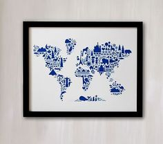 Little Big World Map Wall Art by Minted®