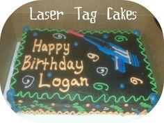 Laser Tag birthday cake #GamezOnWheelzOC