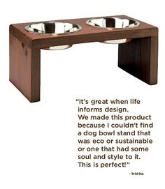 Muir Elevated Dog Bowl Stand