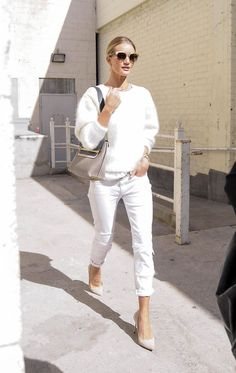 All white rosie huntington whiteley