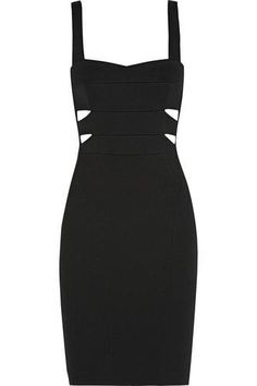 Cutout ribbed stretch-knit dress #dress #women #covetme #narcisorodriguez