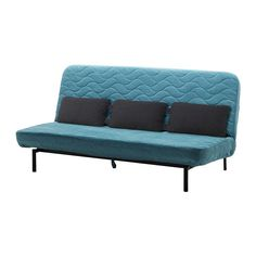 Nyhamn Sleeper Sofa With Triple Cushion Pocket Spring Mattress Borred Green Blue