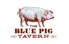 The Blue Pig Tavern identity, Mucca Design