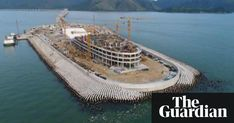 Construction of 55km bridge connecting Hong Kong, Macau and China involves building artificial islands, parts of which seem to be coming unstuck