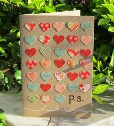 Great idea for any shapes using all different card stock and maybe some stampin dimensional pop dots