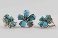 Royal Empires Persian Turquoise Earrings and Ring by CahpoCollect