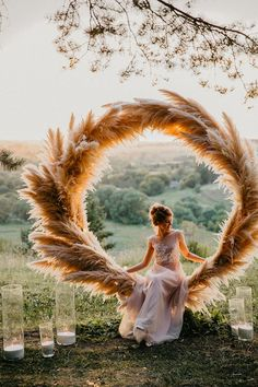 Trendy Bohemian Wedding Decorations ❤️ bohemian wedding decorations round shaped pampas grass bridal altar decorated with candles maria_zhandarova wedding inspiration Trendy Bohemian Wedding Decorations Bohemian Wedding Decorations, Wedding Wreaths, Boho Wedding, Rustic Wedding, Dream Wedding, Wedding Bride, Wedding Wall, Wedding Scene, Decor Wedding