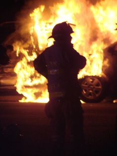 Chief takes command at another vehicle fire while firefighters gearing up and flaking the lines Firefighter Family, Firefighter Paramedic, Firefighter Pictures, Fire Dept, Fire Department, Personalised Gift Shop, Some Like It Hot, Animal Habitats, Firemen