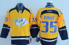 NHL Nashville Predators #35 Rinne Yellow Jersey