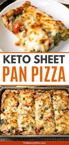 If you've been looking for keto pizza recipes, whether that's recipes for the crust or new ideas on what to use as toppings, this page is perfect for you. We've gathered the most popular keto… Pizza Recipes, Low Carb Recipes, Diet Recipes, Cooking Recipes, Healthy Recipes, Sheet Pan Pizza Recipe, Sheet Pizza, Lowcarb Pizza, Comida Keto
