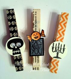 Washi tape clothes pins for halloween #washitape