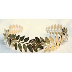 ATHENA Grecian Leaf Headpiece in 24K Gold Plate ($90) ❤ liked on Polyvore featuring accessories, hair accessories, jewelry, greek, photos, pictures, leaf hair accessories, grecian leaf headband, leaves headband and head wrap headbands