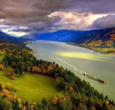The Columbia River Gorge.
