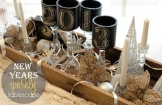 New Years Sparkly Tablescape + Lowes Giveaway by@Jenna_Burger #LowesCreator #NewYears #NewYearsTable