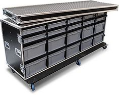Flight Case with Removable Trays