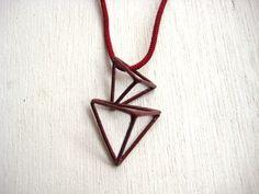 Triangle Necklace [朱]    bico http//:bico.in  #Contemporary jewelry #design #pendant