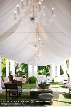 Draped tent, crystal chandeliers and plush lounge furniture all add up to a gorgeous garden wedding Beautiful Wedding Venues, Glamorous Wedding, Garden Wedding, Summer Wedding, Pakistan Wedding, Lounge Party, Lounge Furniture, Wedding Album, Wedding Reception Decorations