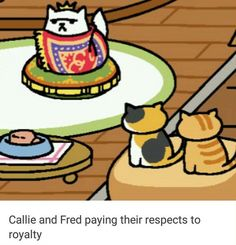 The Best Memes for Everyone Who's Obsessed With Neko Atsume and like OMG! get some yourself some pawtastic adorable cat shirts, cat socks, and other cat apparel by tapping the pin! Cat Memes, Funny Memes, Memes Humor, Funny Quotes, I Love Cats, Cute Cats, Neko Atsume Kitty Collector, Neko Cat, Kitty Games