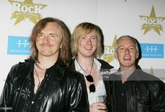 Luke Morley (L) and Danny Bowes (R) of Thunder pose backstage at the Classic Rock Roll Of Honour at the Langham Hotel on November 6, 2006 in London, England.