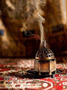 curls of incense rising towards heaven
