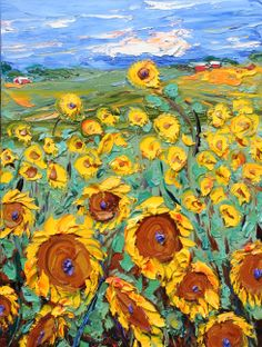 JD Miller | Sunflower Symphony V | 3D Oil on Canvas | 48 x 36 | Samuel Lynne Galleries