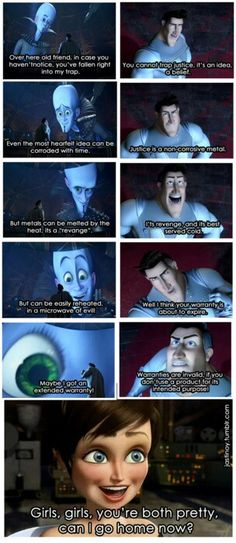 This is literally my favourite Megamind scene