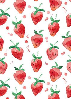 Pattern Design Vintage strawberry watercolor wallpaper Pattern DesignSource : Vintage strawberry watercolor wallpaper by yurdanurolcay Watercolor Pattern, Watercolor Paintings, Watercolor Illustration, Watercolors, Cake Illustration, Watercolor Design, Pattern Illustration, Painting Canvas, Original Paintings