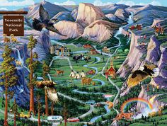 Yosemite Adventures - 500pc Jigsaw Puzzle By Sunsout | SeriousPuzzles.com