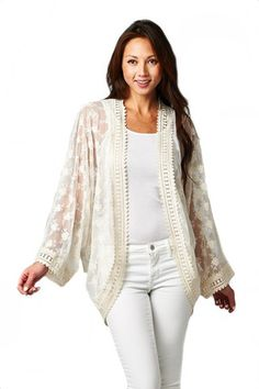 Crown of the Valley Lace Kimono - Natural
