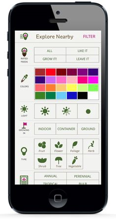 Find plants that will work for you. With the GrowIt! App you can filter by color, plant type, light, and much more, and all the results are local! The app is #FREE check it out today.