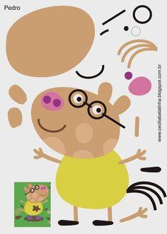 Formy Peppa Pig a její gang - koutek Sonie Moury Molde Peppa Pig, Peppa Pig Imagenes, Cumple Peppa Pig, Pig Crafts, Felt Crafts, Peppa Pig Familie, Peepa Pig, Familia Peppa Pig, Diy For Kids