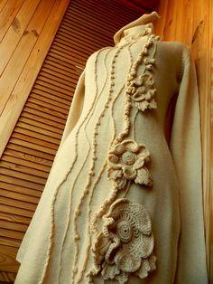 Dress with hand decorations on kulirnoj surface. by SvetlanaRogal