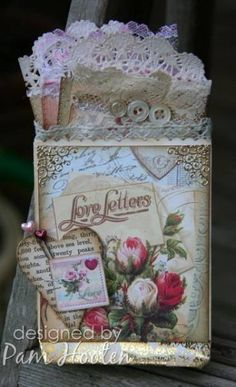 Crafty Secrets October Challenge by iris - Cards and Paper Crafts at Splitcoaststampers Scrapbooking, Scrapbook Cards, Graphic 45, Handmade Tags, Vintage Valentines, Vintage Birthday, Decoupage, Pocket Cards, Paper Tags