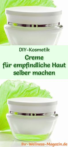 Make cream for sensitive skin itself - recipe and instructions - DIY - Geschenkideen - Gesundheit Diy Shampoo, Winter Nails, Face Care, Sensitive Skin, Lotion, Easy Diy, Beauty Hacks, Homemade, Make It Yourself