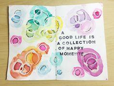 SJ Rondon | Moments Captured | Season of Happy | Get Messy Art Journal