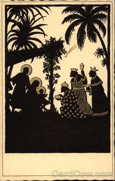 xmas cards nativity silhouette | Silhouette of Nativity Scene Silhouettes